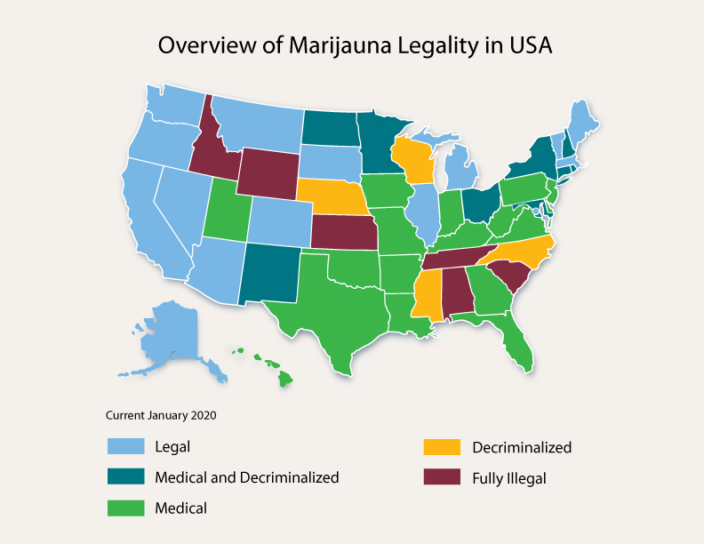 Cannabis Legal Map