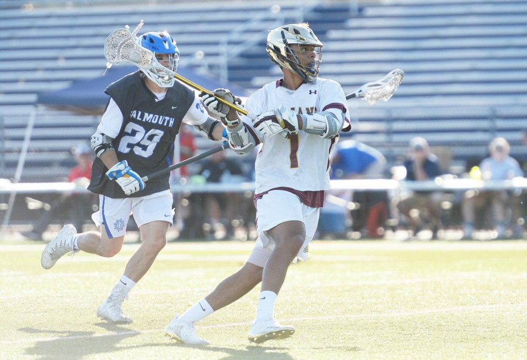 Thornton Academy's CJ LaBreck missed the football season last fall with a shoulder injury, but he is healthy now and ready to lead the Trojans in defense of their Class A lacrosse title.