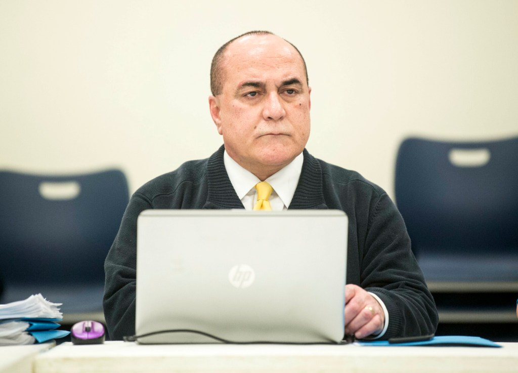 Reza Namin, superintendent of School Administrative District 49, shown earlier this year at a school board meeting, has resigned after nearly a year on the job.