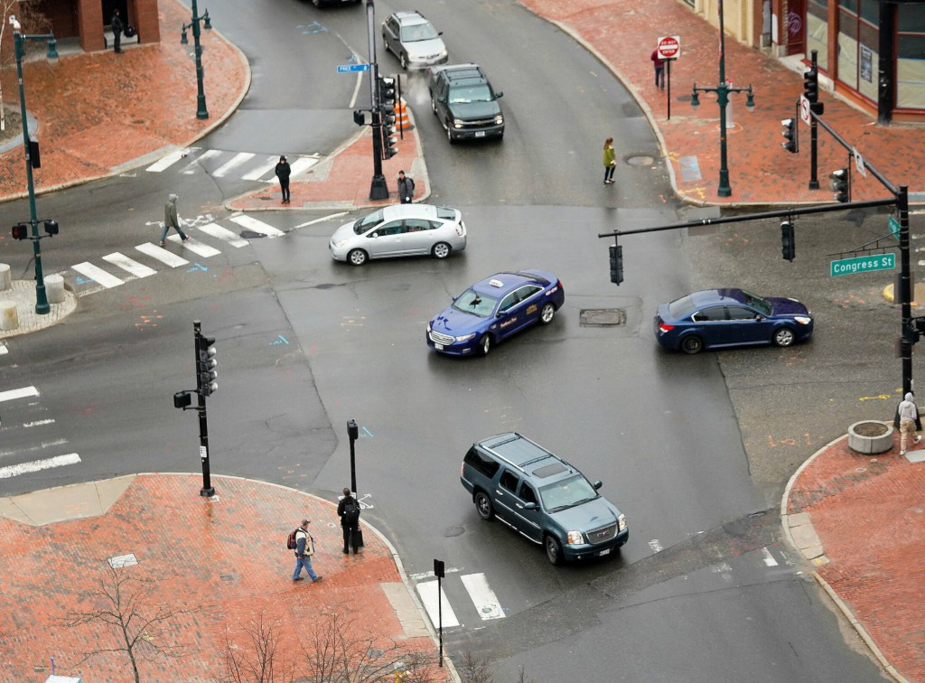 The intersection of Congress and High streets in Portland likely will not be improved this year because construction costs have come in higher than estimates.