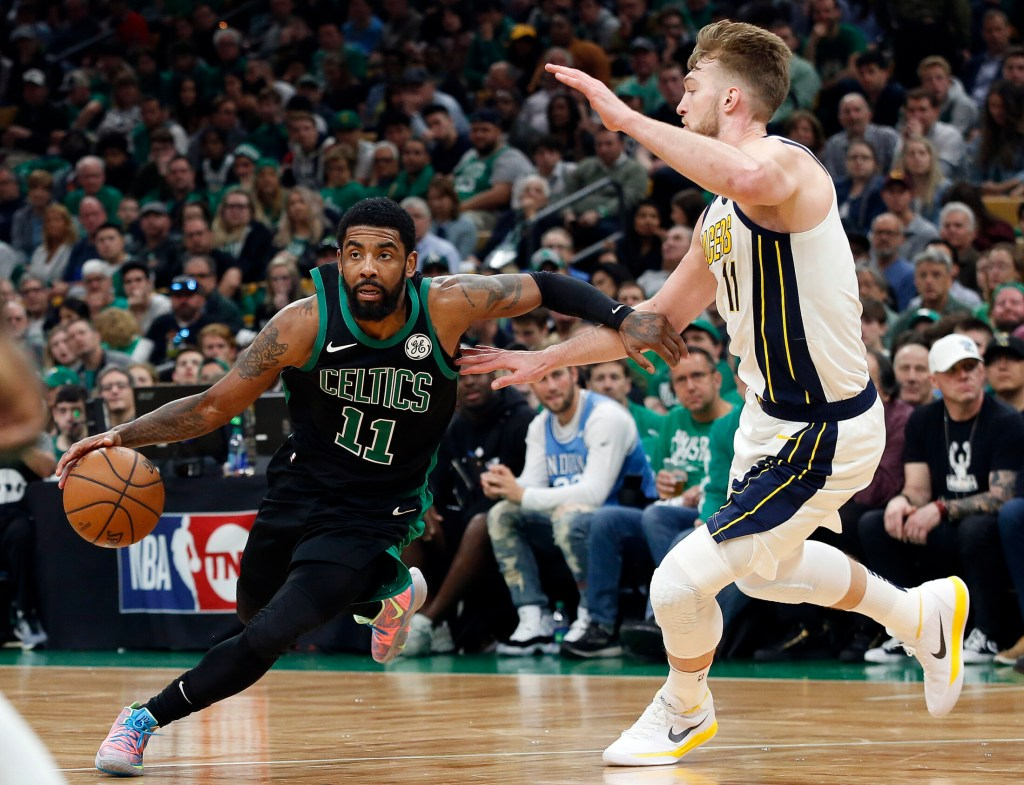 Boston's Kyrie Irving scored 20 points in the Celtics' Game 1 victory over Indiana at TD Garden on Sunday, part of a sports-filled weekend in Boston.