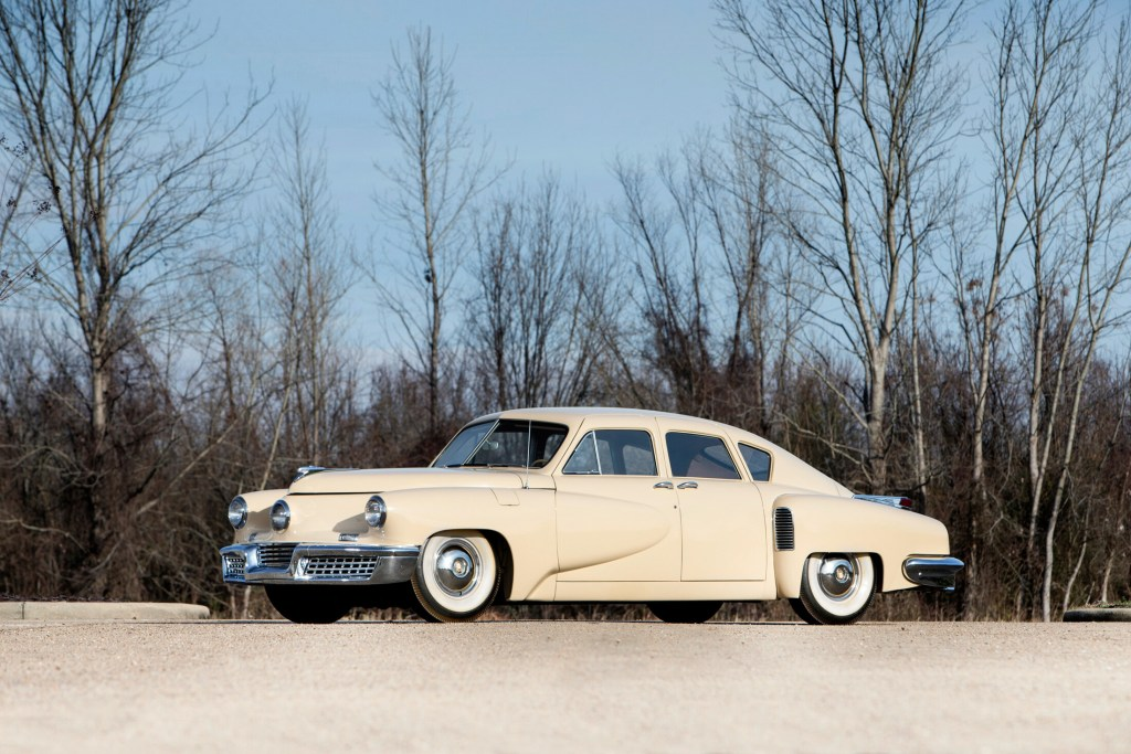 Tucker No. 1028 was sold at auction for $1.8 million to Tim Stentiford, who intends to make it the centerpiece of his new museum/showroom. The car is one of just 51 Tucker automobiles ever made.