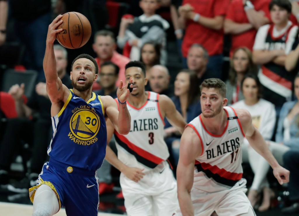 Stephen Curry and the Golden State Warriors clinched their fifth straight Western Conference title on Monday and will have 10 days off before the NBA finals.