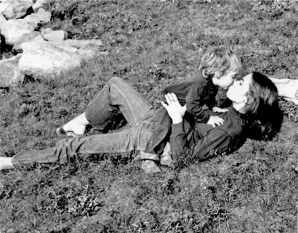Max Brody with his mom Lora Brody in the park. Max is now all grown up and the owner and chef of Buxton Common restaurant in Buxton. His mom wrote many cookbooks in the 1980s and 1990s.