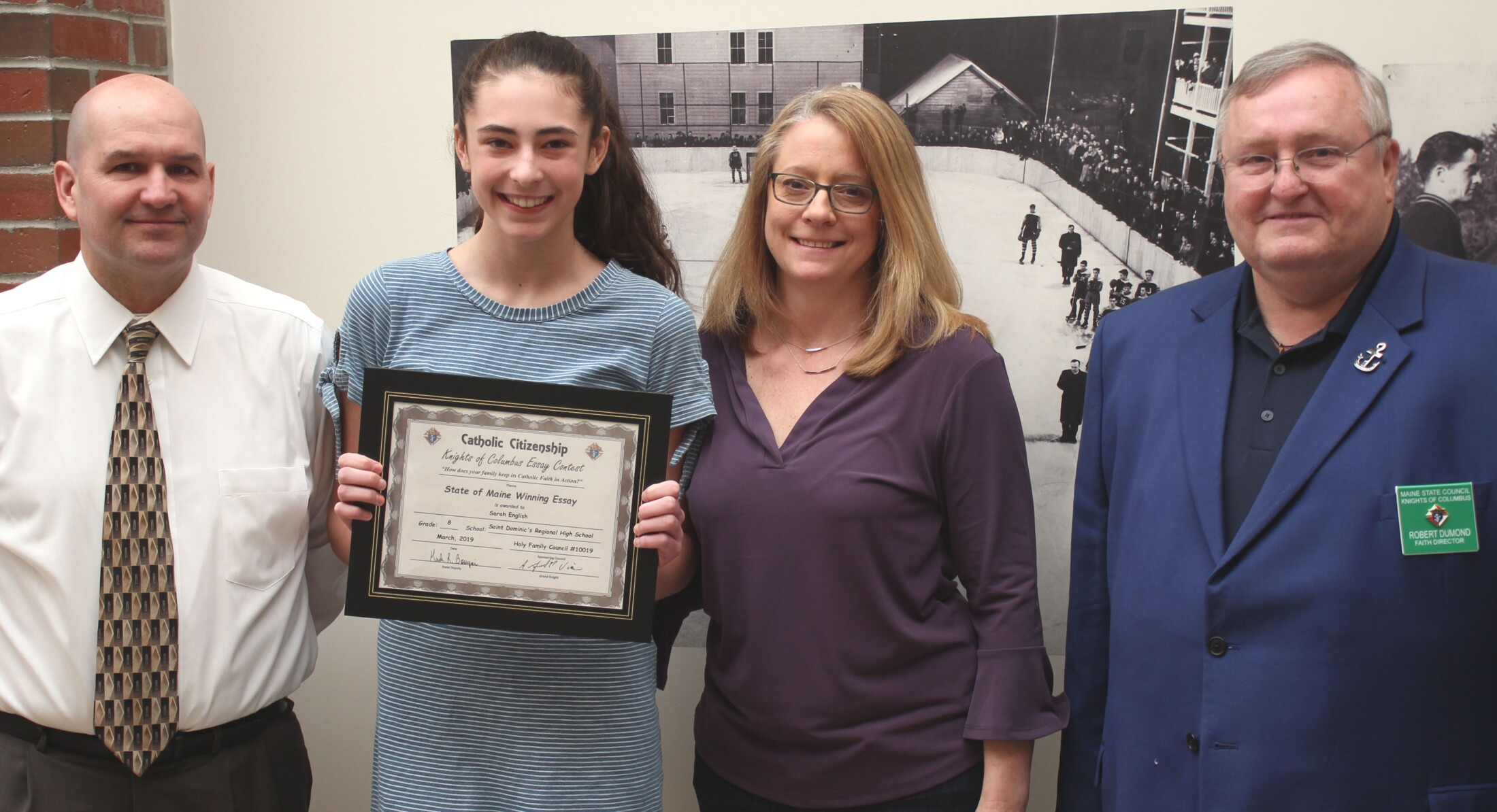 St  Dom's eighth-grader wins essay contest at state level | Lewiston
