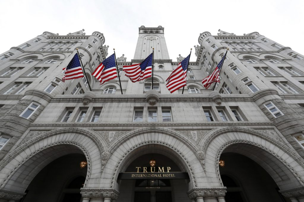 Members of Maine Gov. Paul LePage's travel group spent four nights at the Trump International Hotel in Washington in February 2017 at a time when the governor met with top administration officials and testified before Congress.
