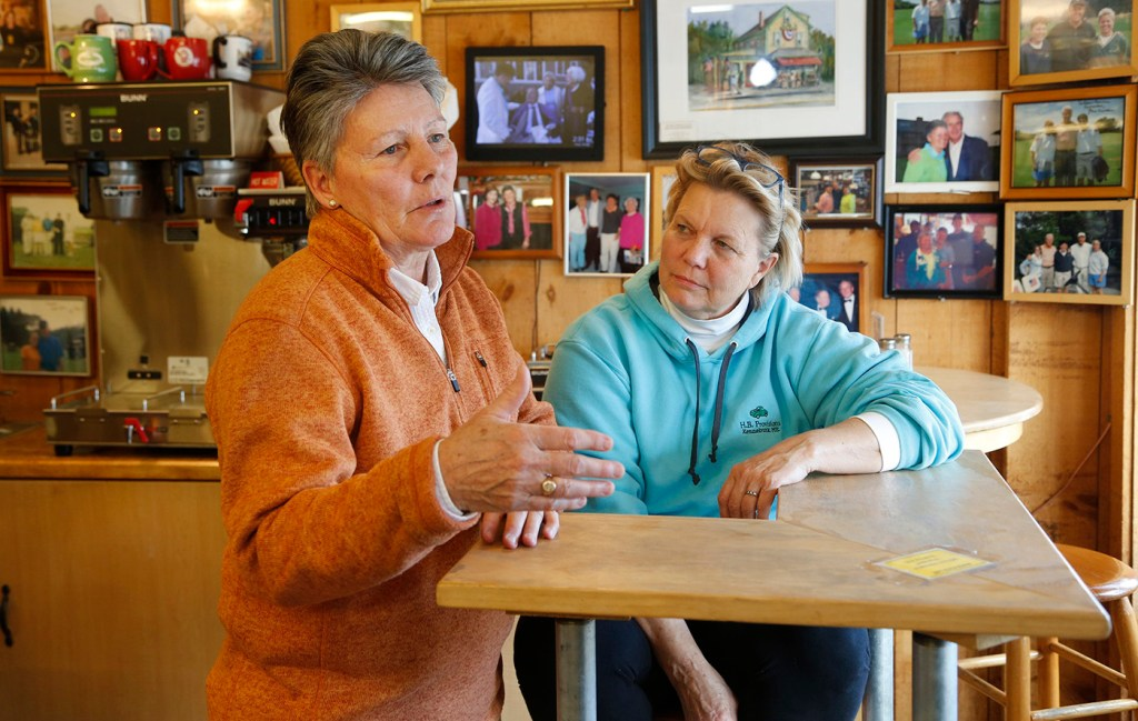 Bonnie Clement and Helen Thorgalsen, owners of  H.B. Provisions in Kennebunk  in 2018.