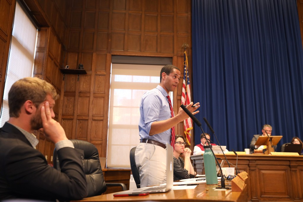 City Councilor Spencer Thibodeau ultimately voted to approve the Riverside Street site Monday night after councilors debated forming a working group to discuss policies and procedures for the new homeless shelter.
