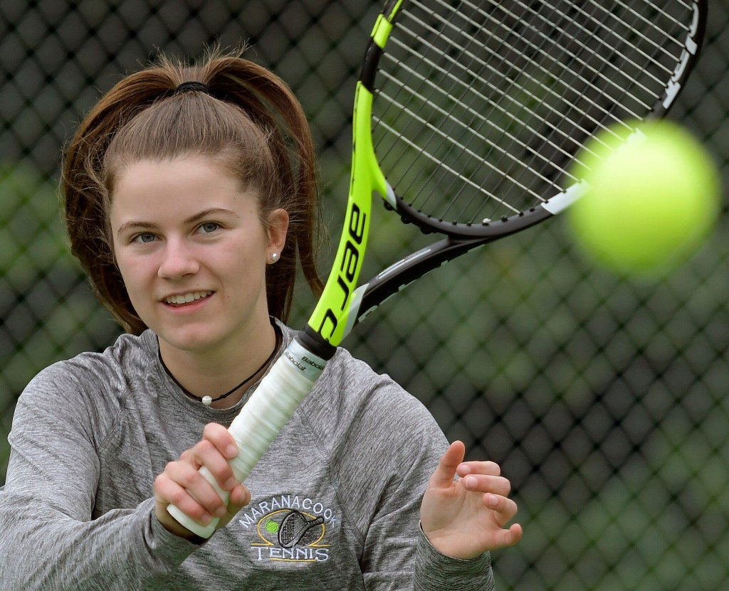 Maranacook's Madelyn Dwyer is the Kennebec Journal Girls Tennis Player of the Year.