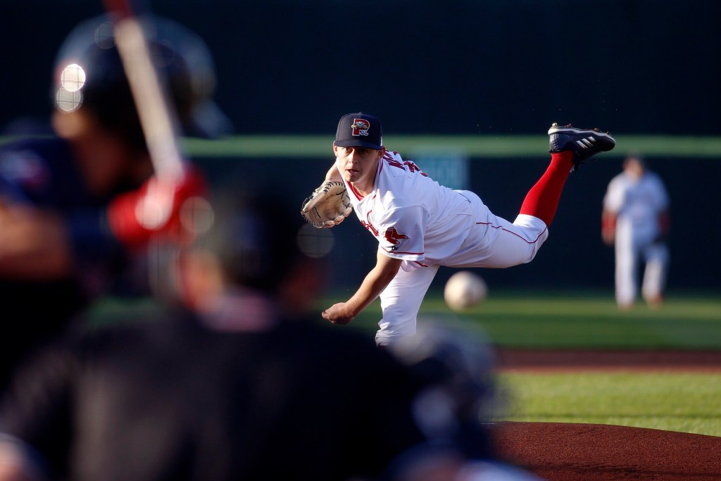 Matt Kent pitched seven innings, allowing three runs (two earned) on six hits, while striking out four and walking one against the New Hampshire Fisher Cats on Monday at Hadlock Field. Portland won, 8-4.