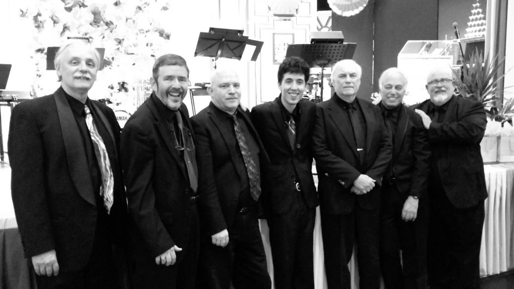 Anevening of classic jazz from the Great American Songbook will feature jazz musicians, from left, Bill Manning (drums), Barney Balch (trombone), Dave Clarke (guitar), David Harris (reeds), Herb Maine (bass), Mickey Felder (piano) and Mike Mitchell (trumpet).