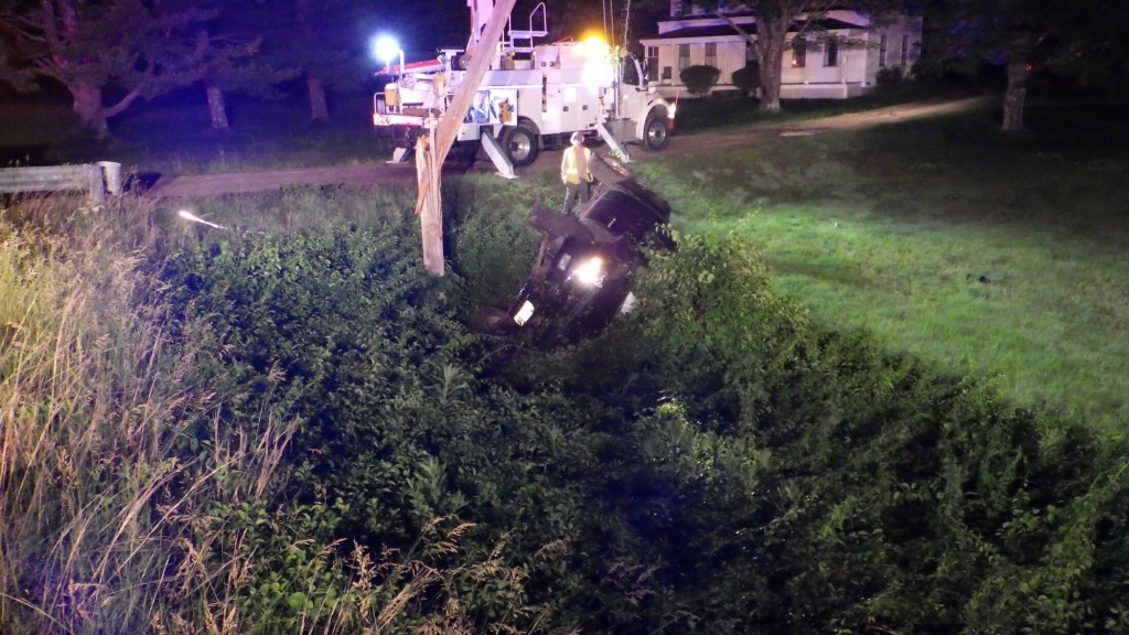 A Standish man was seriously injured in this wreck early Sunday in Standish.