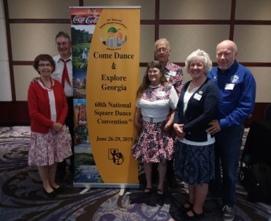 Square dancers, from left, Margaret and Bruce Carter, of Ellsworth; Ellie and Steve Saunders, of Bradford; and Cindy Fairfield and Bob Brown, both of Newport, attended the 68th National Square Dance Convention June 26-29 in Atlanta, Ga.