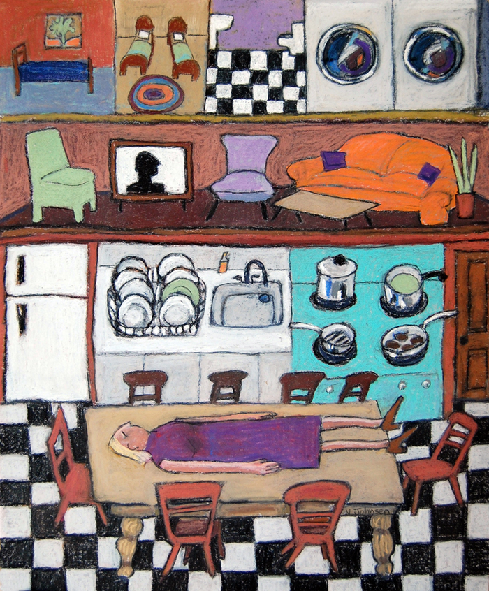 """""""Domestic"""" by Norma Johnsen."""