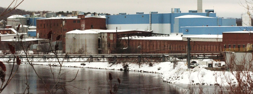 The closed former Madison Paper Industries mill along the Kennebec River on Jan. 3, 2017. The state's tax review board has turned down the company's request for a tax abatement.