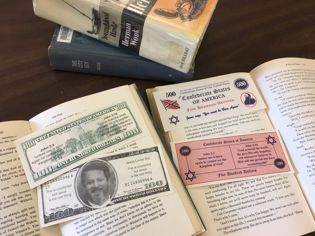 Bizarre counterfeit bills targeting readers of Jewish authors found in Brunswick library - CentralMaine.com
