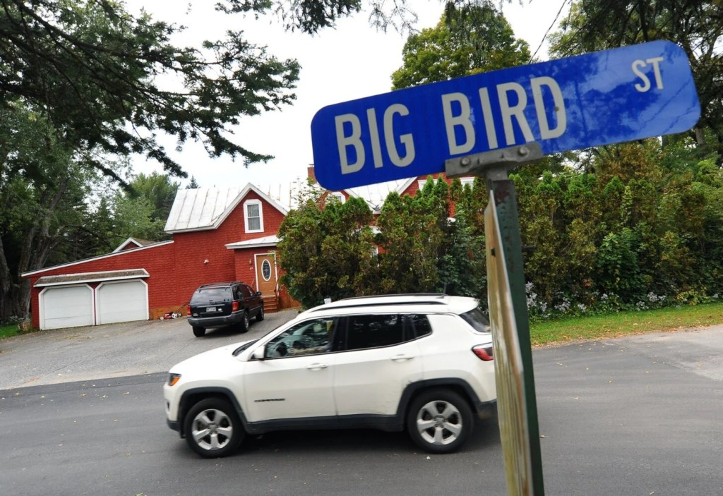 Big Bird Street in Skowhegan in seen on Thursday.