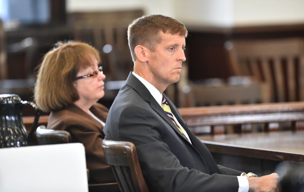 Claudia Viles, left, sits with her attorney, Walter McKee, as the jury enters the court room with a verdict after deliberating for nearly two hours at Somerset County Superior Court in Skowhegan on June 22, 2016. Viles petition that she was not adequately defended by McKee was denied recently.