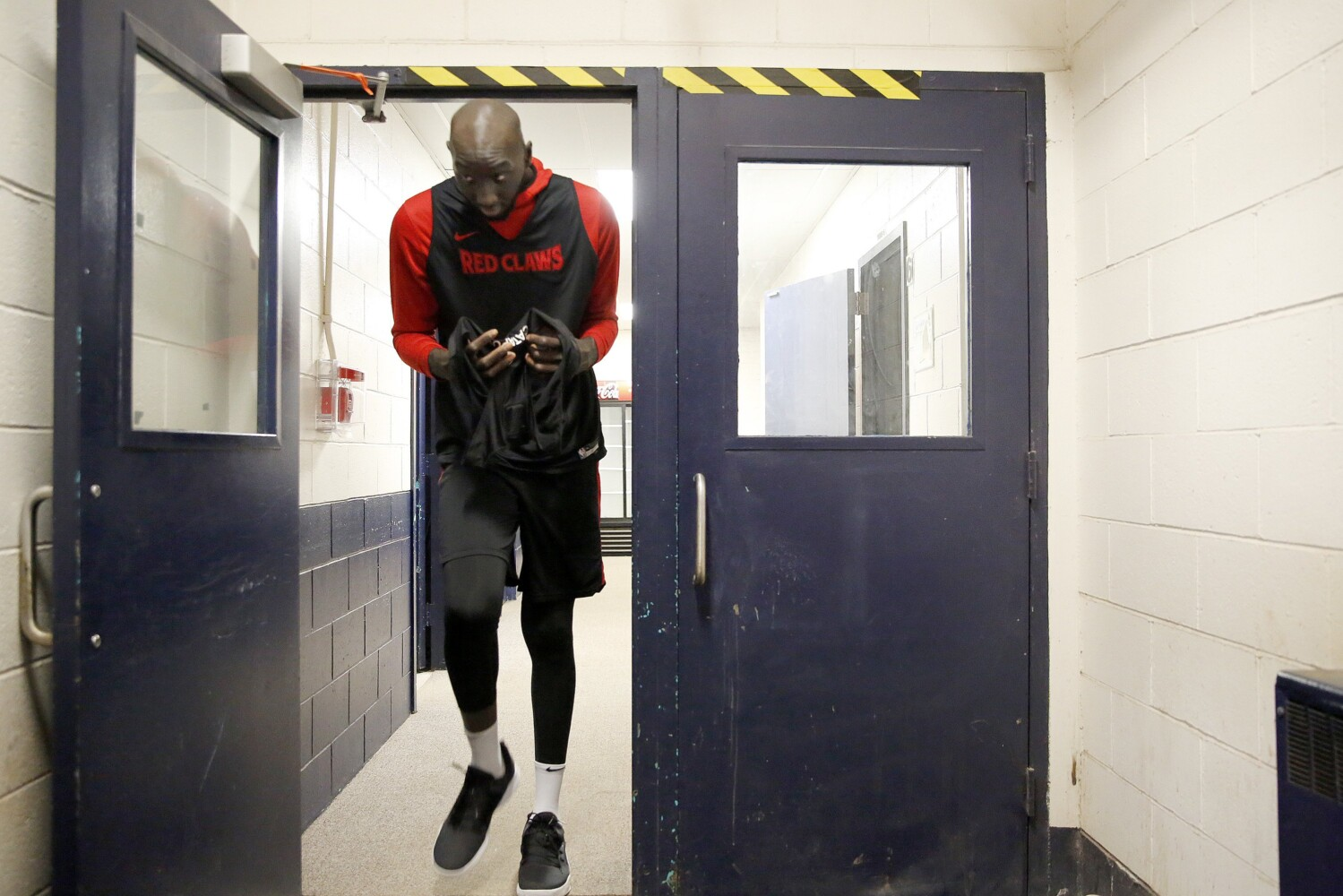 Tacko Fall is already a big hit before his first game in Maine - CentralMaine.com