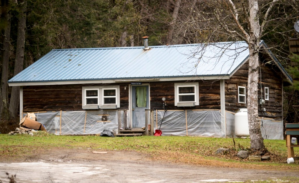 The house at 108 Ward Hill Road in Thorndike on Wednesday, a day after a Maine state trooper shot a man there during what authorities said was an armed confrontation.