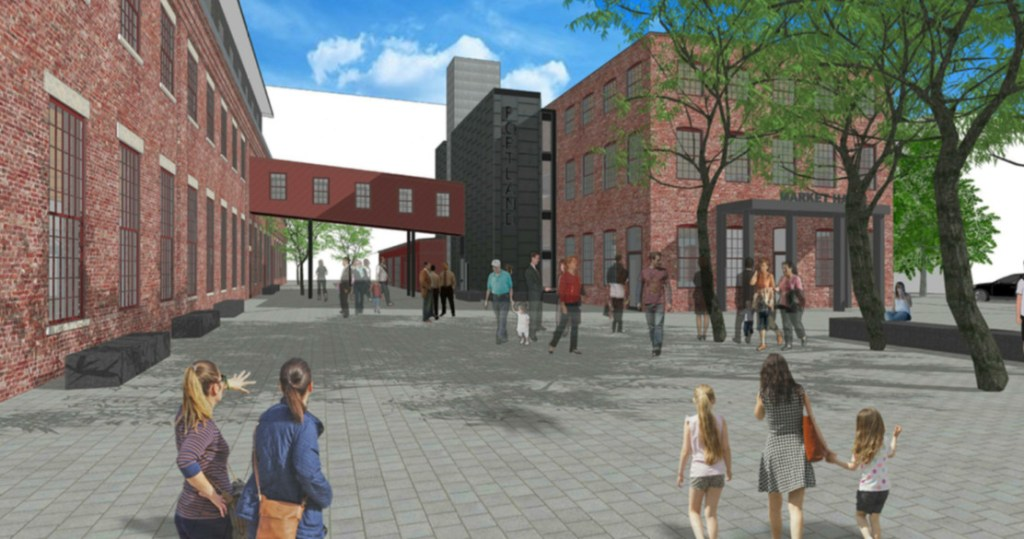 Portland Foreside Development Co.'s site plans to develop the former Portland Company complex include new offices, a market hall, event space, housing, restaurant and retail use.