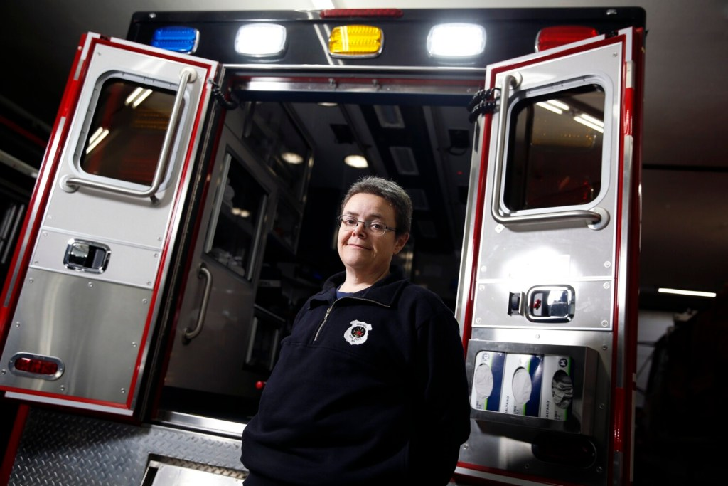 Paramedic Sonja Nielsen loves her job as a paramedic but works four other jobs to make ends meet. She is at Limerick Fire and Rescue, one of the stations where she works.