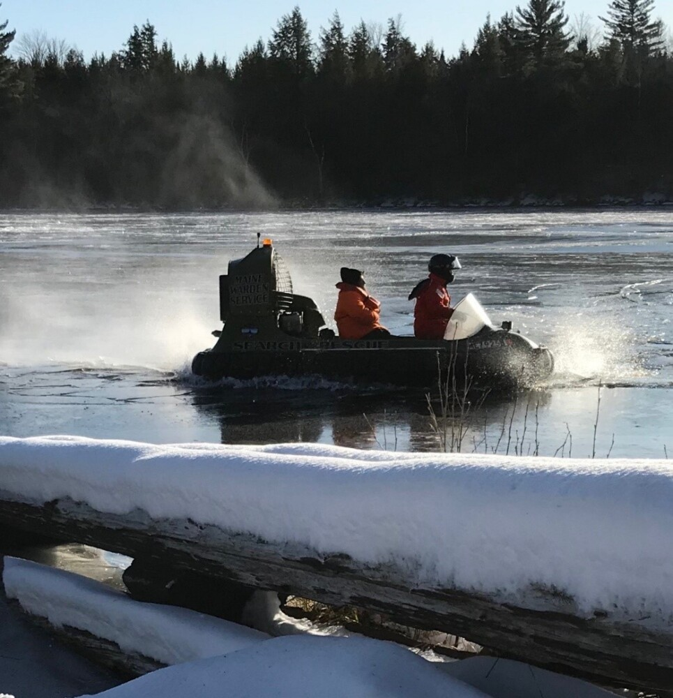 Game Wardens use hovercraft to rescue Millinocket hunters trapped on Penobscot River - Portland Press Herald