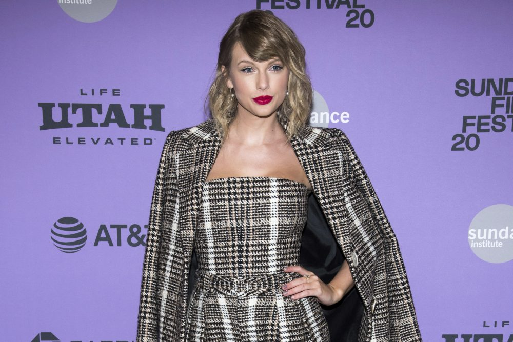 "Taylor Swift attends the premiere of ""Miss Americana"" at the Eccles Theater during the 2020 Sundance Film Festival on Thursday, Jan. 23, in Park City, Utah."
