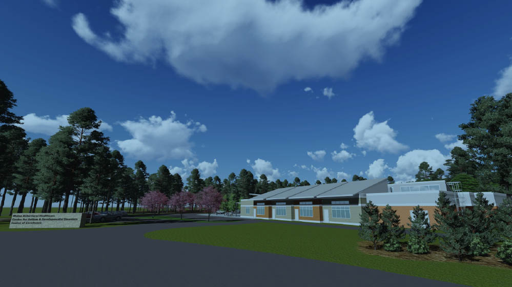 This rendering shows the proposed Maine Behavioral Healthcare Center of Excellence in Autism and Developmental Disorders in Portland.