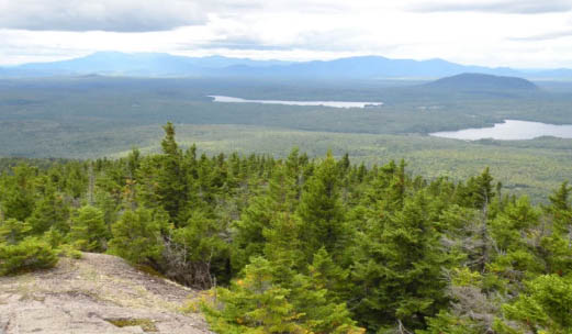 """The view from Mount Chase, near land purchased by Wolfden Resources Corp. Explorations in the 1970s revealed zinc, lead, copper and silver in what was dubbed the """"Mount Chase deposit,"""" but no mining was attempted."""
