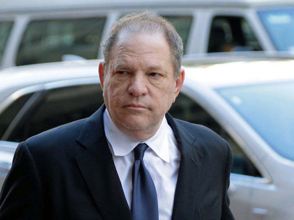 In this July 9, 2018 file photo, Harvey Weinstein arrives for a pre-trial hearing in New York.
