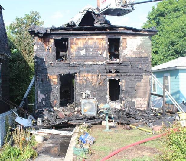 A two-story building on Montreal Street in Sanford was destroyed in an arson fire in July.
