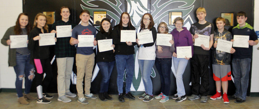 Spruce Mountain High School awards students for work in November