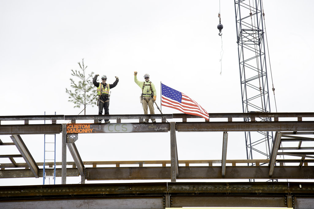 Topping off Connors Elementary School with final beam | Lewiston Sun