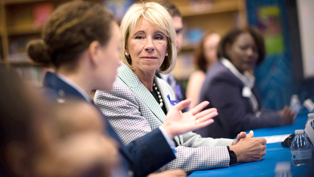 Betsy DeVos considers allowing schools to use federal funds to buy