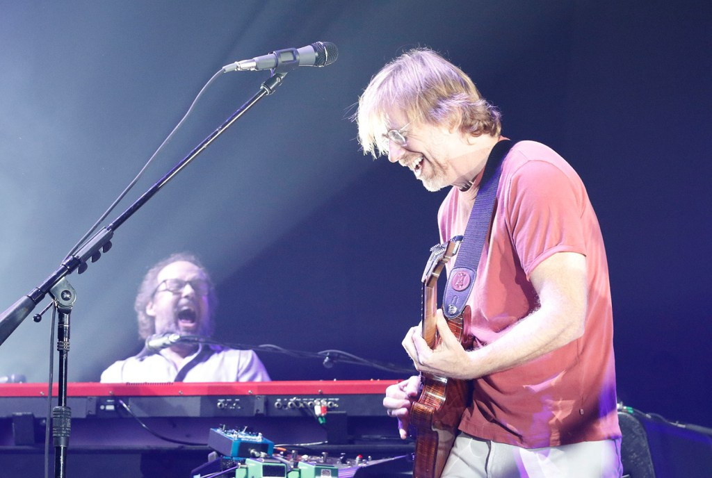Page McConnell and Trey Anastasio of Phish play to a packed house in Portland in July 2016.