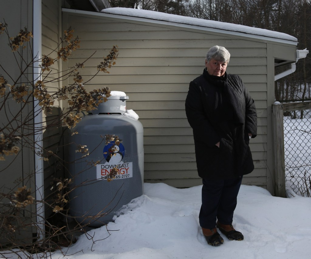 """North Yarmouth resident Pamela Smith was charged nearly $12 by her propane service for a hazmat fee, although there's no such thing under local, state or federal law. """"A 'hazmat fee,' every time there's a fill-up? They're very nice people, but I was just taken aback."""""""