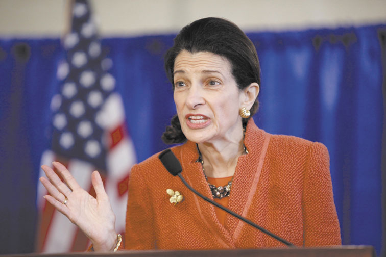 MAKING IT OFFICIAL: U.S. Sen. Olympia Snowe, R-Maine, speaks at a news conference Friday. Snowe has decided not to seek a fourth term.