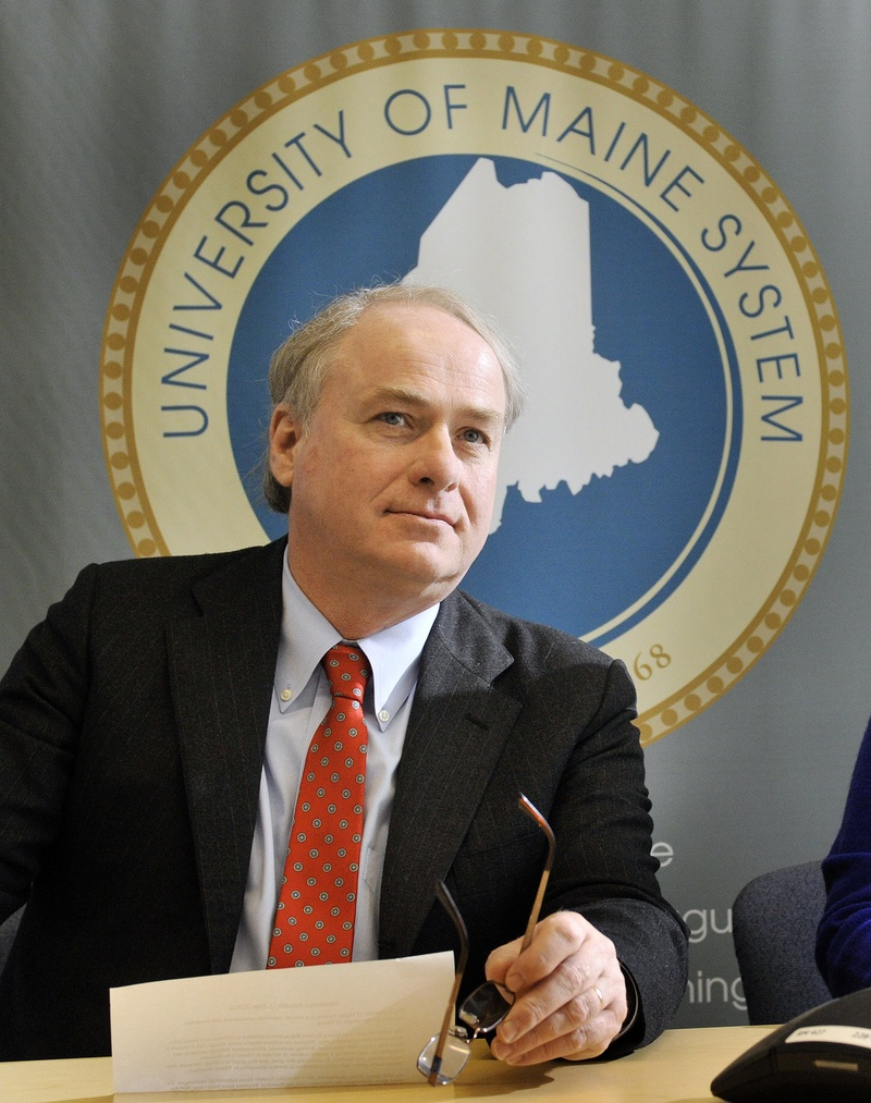John Ewing /staff photographer... Thursday, February 16, 2012...James H. Page was named appointed as chancellor of Maine's public university system on Thursday morning.