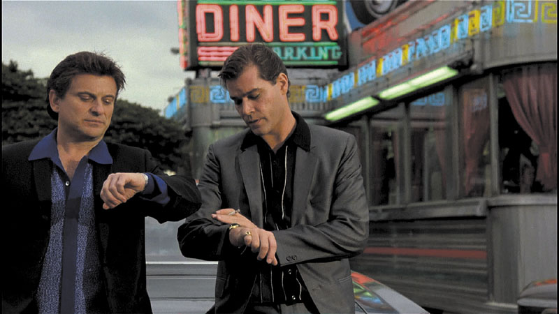 """WISE GUYS: Joe Pesci, left, and Ray Liotta in a scene from """"Goodfellas."""" The movie plays at 6:30 tonight at Waterville Opera House as part of the Maine International Film Festival."""