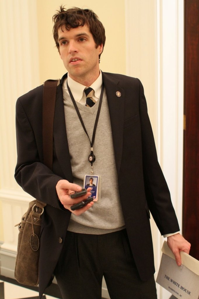 "Maranacook High School grad Tim Simons in ""Veep"" on HBO."