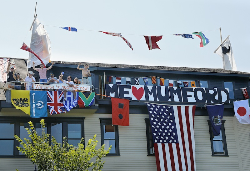 """Friends helped turn the home of Nance Monaghan into a boat in hopes of winning a house-decorating contest on Munjoy Hill for the """"Gentleman of the Road"""" music festival. The winner of the contest supposedly gets Mumford and Sons in their living room following the concert."""