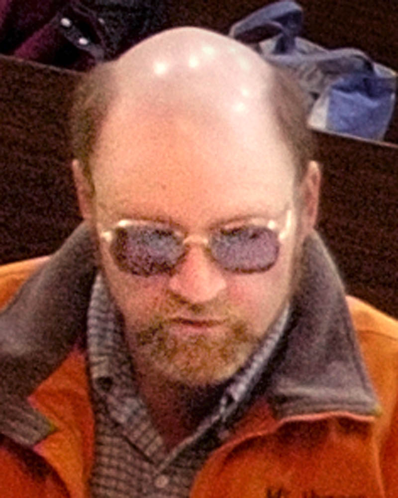 Kerry Hebert at the Starks Town Meeting in 2007.