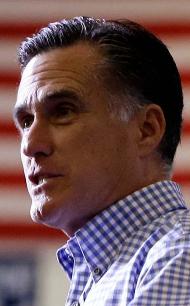 Republican nominee Mitt Romney strikes a nonpartisan tone.