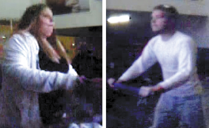 Waterville police believe these Nov. 6 security camera photos show Heather Folsom, 23, and Brandon Brasher, 24, both of Pittsfield, who were summonsed on theft charges for allegedly stealing an unattended purse at Walmart on Kennedy Memorial Drive.