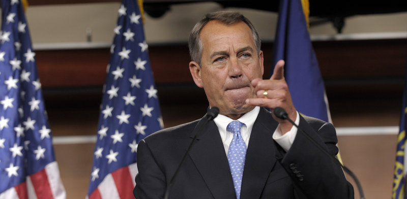 House Speaker John Boehner declines to elaborate on a Republican plan that he says provides as much as $800 billion in new government revenue over the next decade as well as considering elimination of tax deductions on high-income earners.
