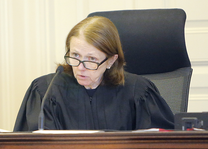 York County Superior Court Justice Nancy Mills on Tuesday continued the gag order she imposed on defense attorneys, prosecutors and jurors while she awaits a ruling from the Maine Supreme Judicial Court on an appeal by the prosecution.