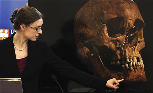 "Jo Appleby, a lecturer in human bioarchaeology at the University of Leicester School of Archaeology and Ancient History, says tests have established ""beyond reasonable doubt"" the long lost remains of England's King Richard III, missing for 500 years."