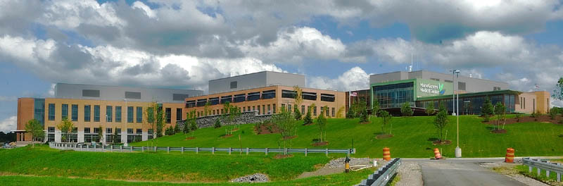 This photo taken on Wednesday shows the new Alfond Center for Health regional hospital in Augusta.