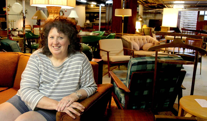 Lisa Kallgren recently opened her antique store Modern Underground in Waterville. The lower level entrance to her store can be found off Temple Street behind the Lebanese Cuisine restaurant. Kallgren said the store contains a lot of mid-20th century pieces as a well as some Danish and industrial pieces.